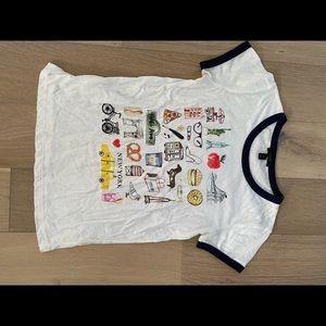 J.Crew New York City T shirt white medium
